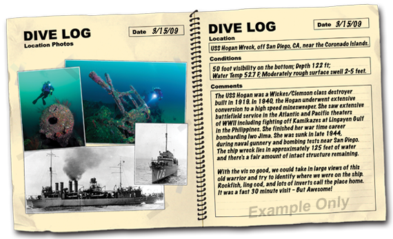 dive log contest